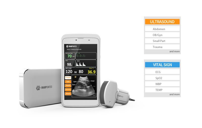 Warp 3 Medical Recorder, a Point-of-Care solution with Micro Ultrasound and Vital Sign